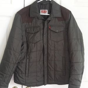 Levis lightweight jacket with suede accents